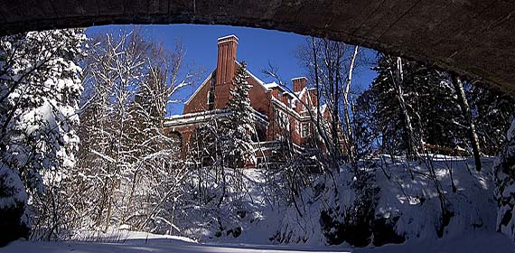A new blanket of snow for a century-old mansion. Glensheen, the historic Congdon estate, is open for tours on weekends.