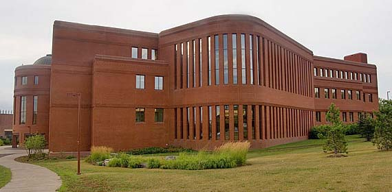 UMD's Library, which opened in fall 2000, presents a spacious environment for research and study.
