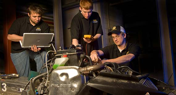 For the third year, UMD students are participating in the Clean Snowmobile Challenge, an engineering design competition.