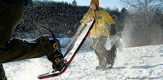 The snowshoeing program at UMD offers great exercise as well as a unique way to see Duluth's many trails.