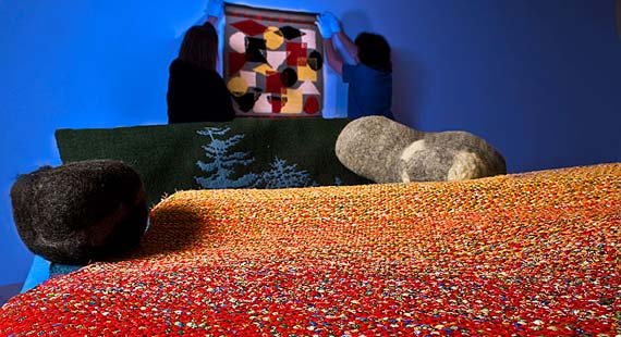 The Tweed Museum of Art celebrates FinnFest 2008 with a textile exhibition.