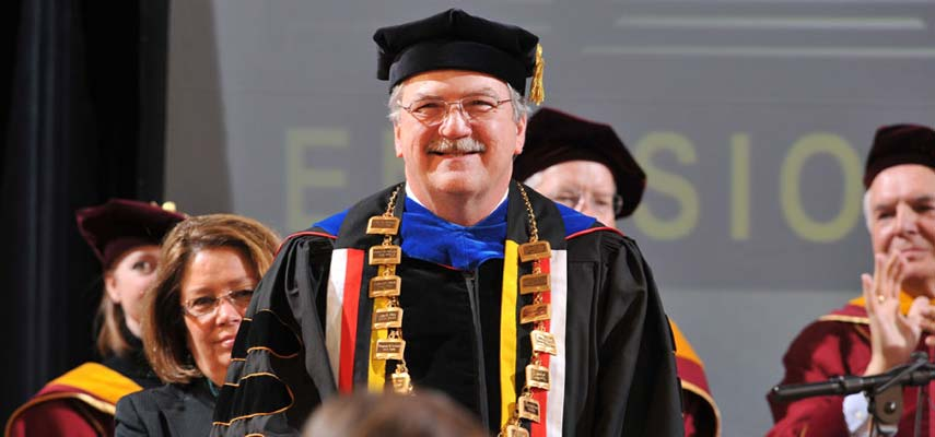 "On March 4, Dr. Lendley C. ""Lynn"" Black was installed as the ninth chancellor of the University of Minnesota Duluth. Five days of celebration events reflected the interests and values of the new chancellor with themes of research, diversity, sustainability and community service."