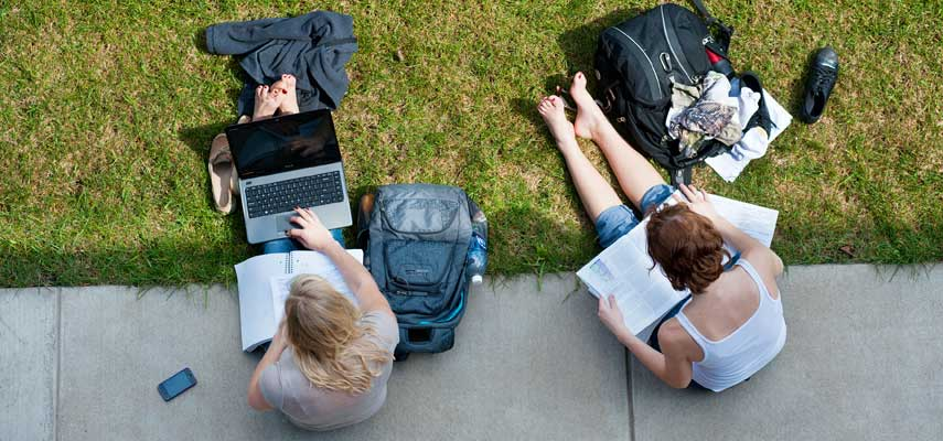 The pursuit of knowledge continues outdoors for UMD Summer Session students.