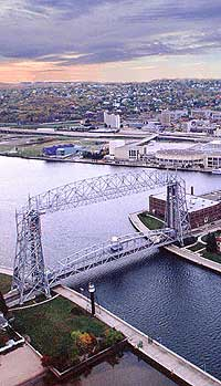 Downtown Duluth from Aerial Lift Bridge
