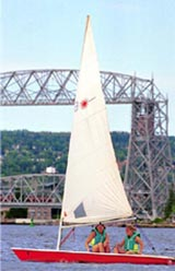 Students Sailing on Lake Superior