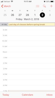 Umn Academic Calendar.Umd Subscribe To Academic Calendar With Ios Calendar