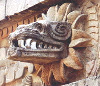 Carving of Quetzal.coat.
