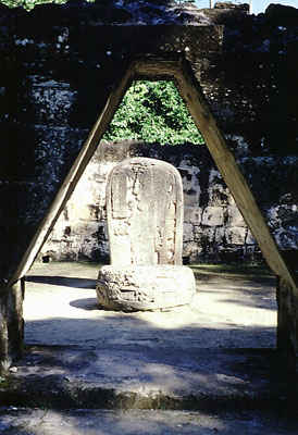 False Arch and Stone Stela