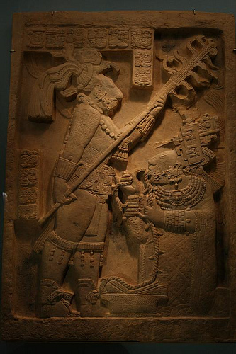 Bloodletting Ritual of Lady Xok, Yaxchitlan, Structure 23, Lintel 24