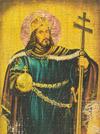 Szent István király, King Stephen I of Hungary.