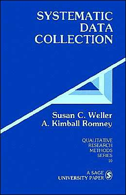 Systematic Data Collection, Susan C. Weller and A. Kimball Romney.