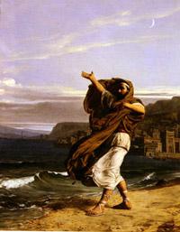 Demosthenes Practising Oratory Jean-Jules-Antoine Lecomte du Nouy (1842–1923) -- Wikipedia