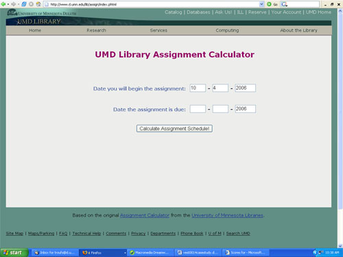 web calculator assignment