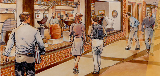 An artist's rendering of the new Tweed Museum entrance.