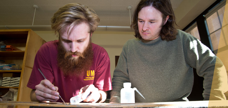 UMD student Cole Webster and Assistant Professor Bryon Steinman
