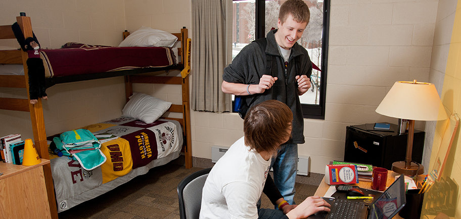 UMD students in their residence hall