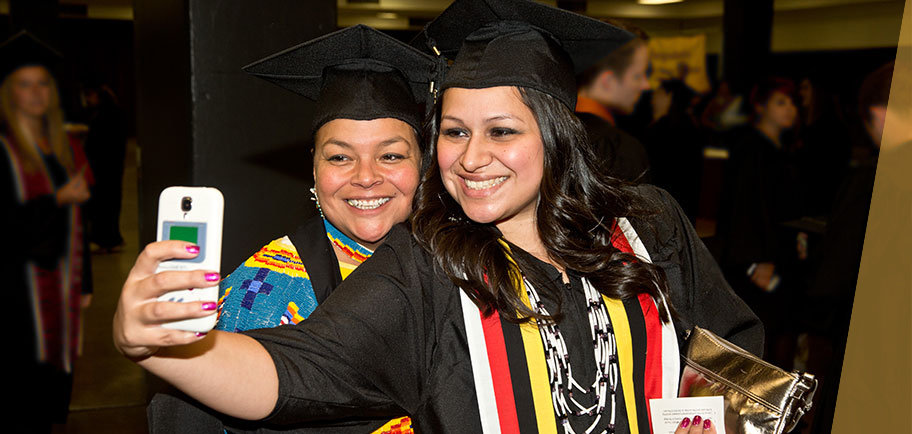 A selfie at UMD's 2015 commencement
