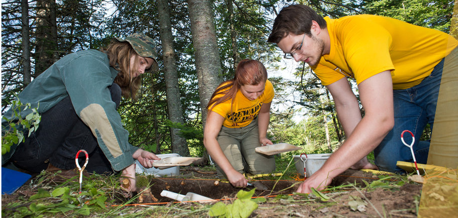 UMD students taking part in the 2016 Archaeology Field School