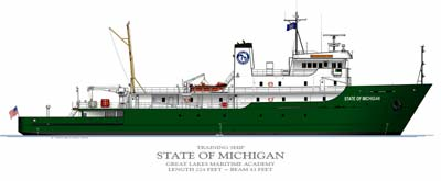 Drawing of State of Michigan.