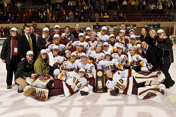 2008 UMD Women's Hockey Team.