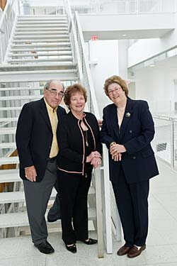 Joel and Sharon Labovitz and Chancellor Kathryn A Martin.
