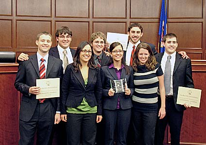 Mock trial winners.