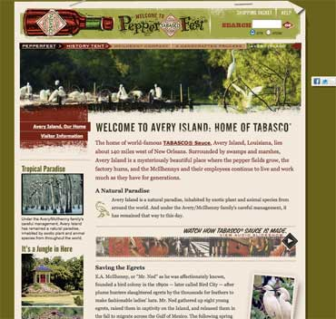 tabasco site page