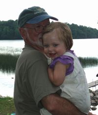 Tom Bacig and granddaughter.