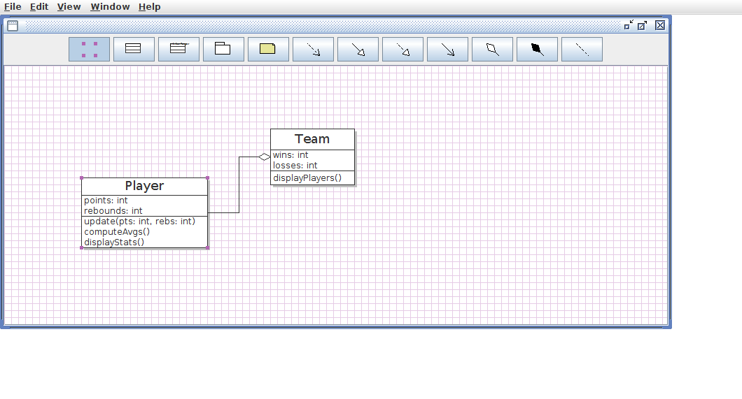Lab uml click the select tool and drag the player class icon down an inch or two ccuart Choice Image